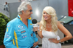 Flavio Briatore is interviewed by Carolina Gynning