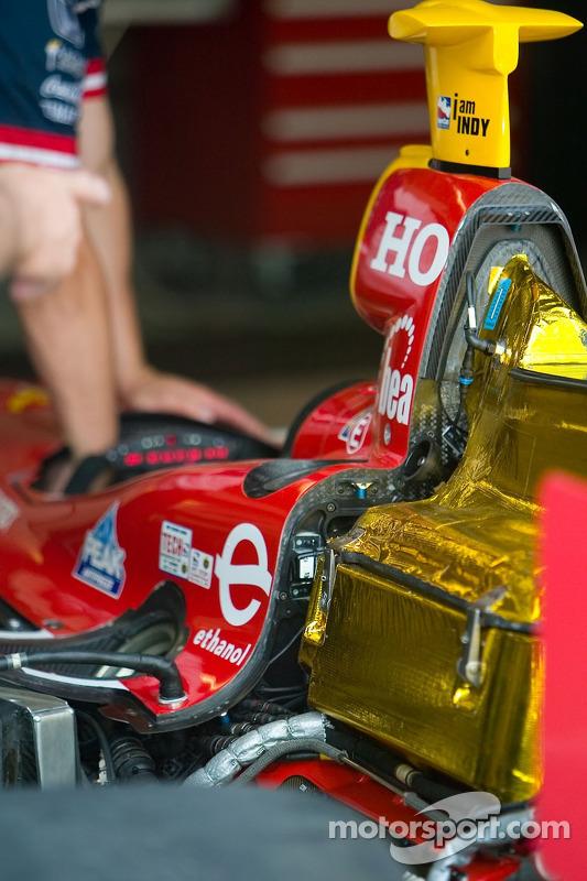 Protection de la chaleur sur le moteur IndyCar