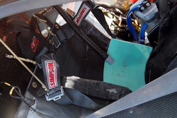 Extra seat padding in the #19 Ford Crawford awaits Memo Gidley's return