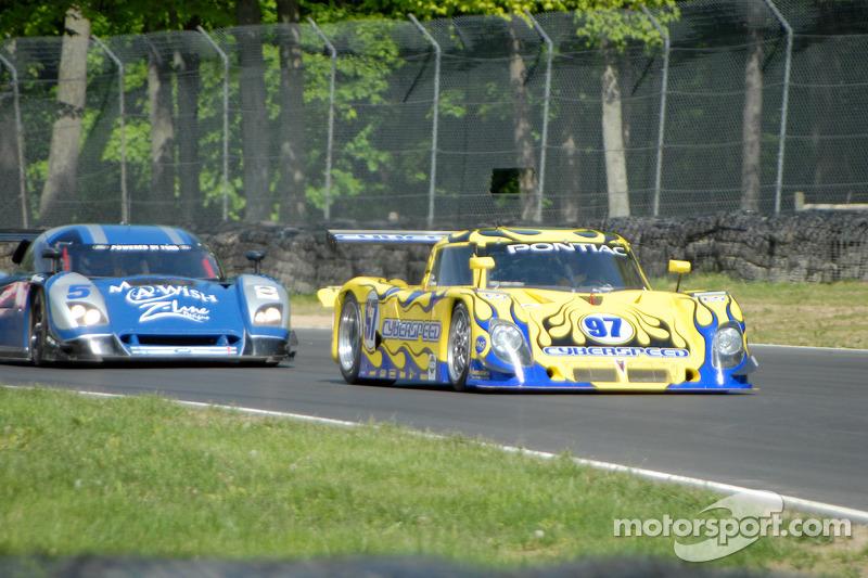 #97 Cyberspeed Racing Pontiac Riley: Skip Cummins, #5 Essex Racing Ford Crawford: Rob Finlay, Michael Valiante