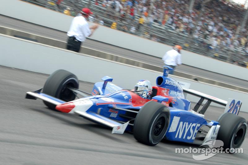 Marco Andretti sur la ligne des stands