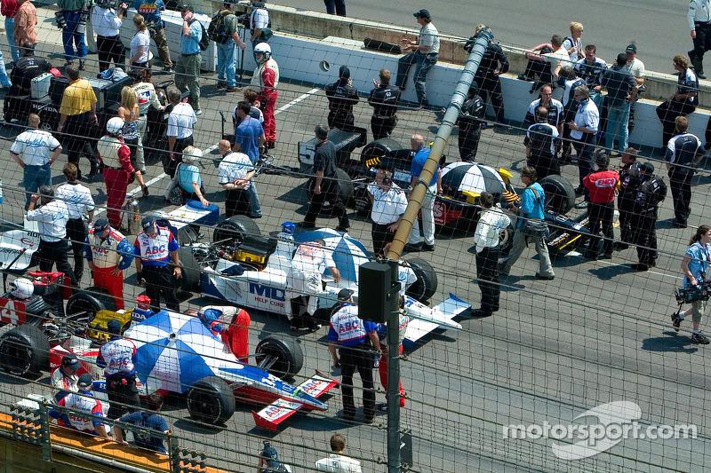 La grille du Indy 500
