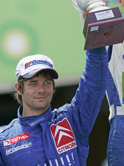 Podium: second place Sébastien Loeb celebrates