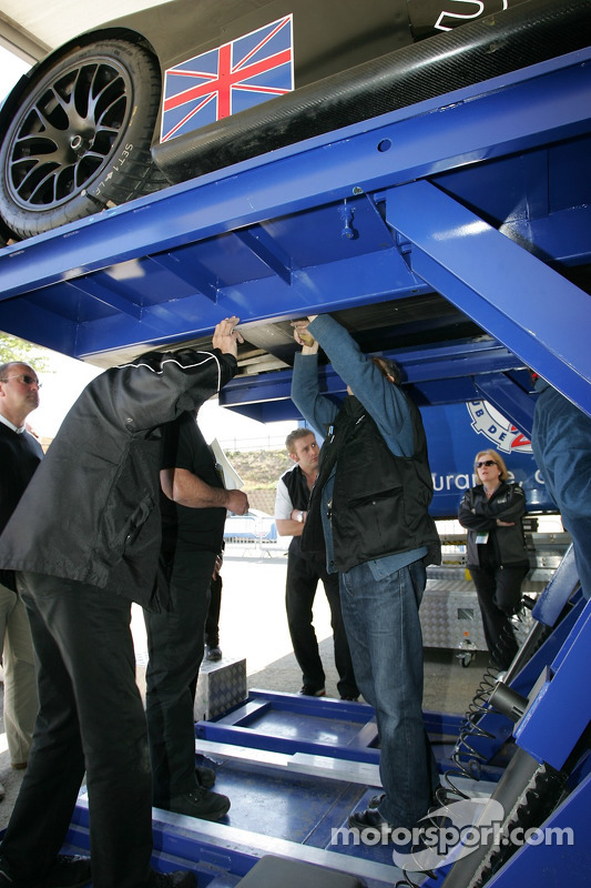 Lister Storm Racing Lister Storm Hybrid at scrutineering