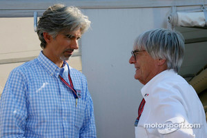 Damon Hill and Bernie Ecclestone