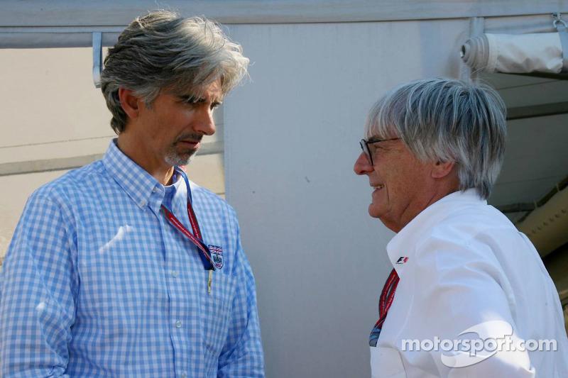Damon Hill et Bernie Ecclestone