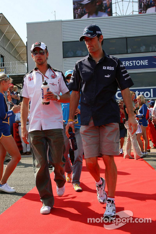 Jenson Button y Mark Webber