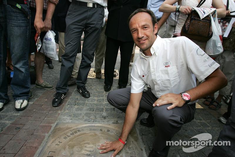 Découverte de la plaque des vainqueurs des 24 Heures du Mans 2005: Marco Werner
