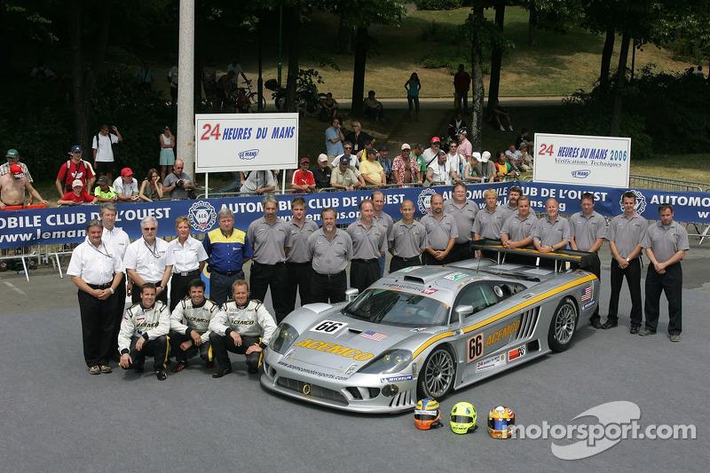 Terry Borcheller, Johnny Mowlem, Christian Fittipaldi, et l'équipe ACEMCO Motorsports avec la ACEMCO Motorsports Saleen S7R