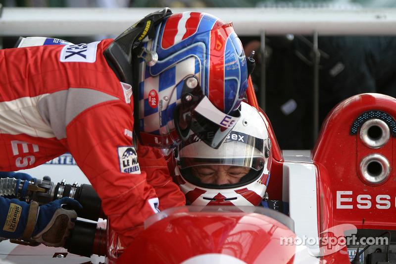 Driver change practice for Casper Elgaard and John Nielsen