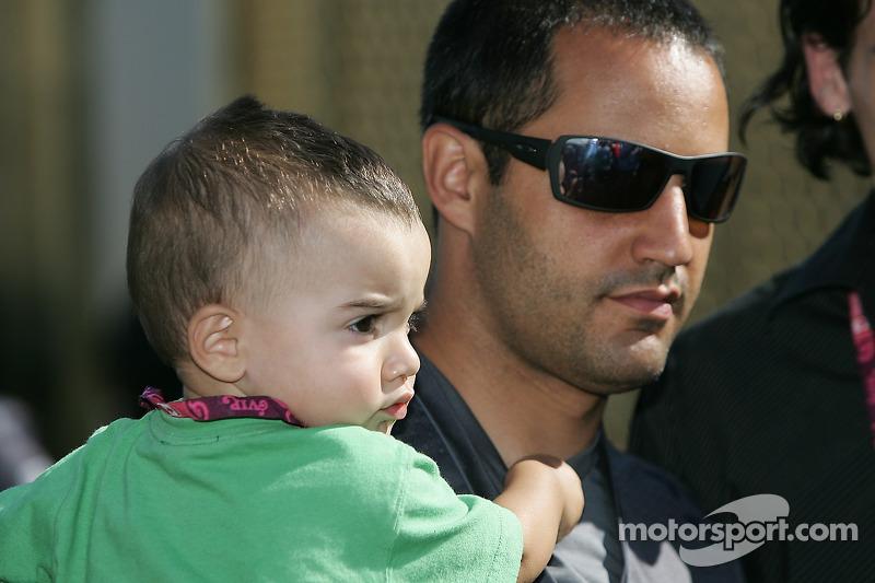 Juan Pablo Montoya avec son fils Sebastien