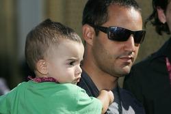 Juan Pablo Montoya with son Sebastien