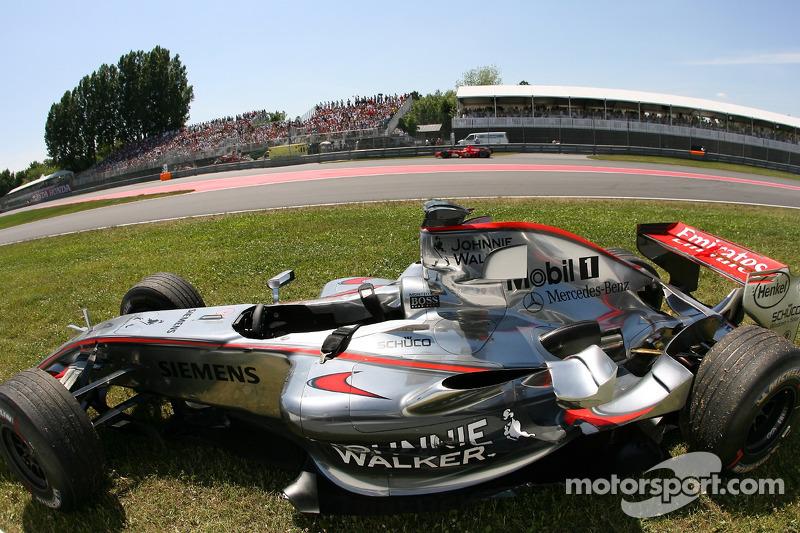 La McLaren de Juan Pablo Montoya