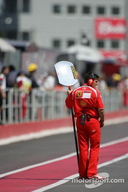 Scuderia Ferrari, un membre de l'équipe