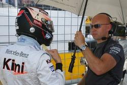 Kimi Raikkonen avec son entraîneur personnel Mark Arnall