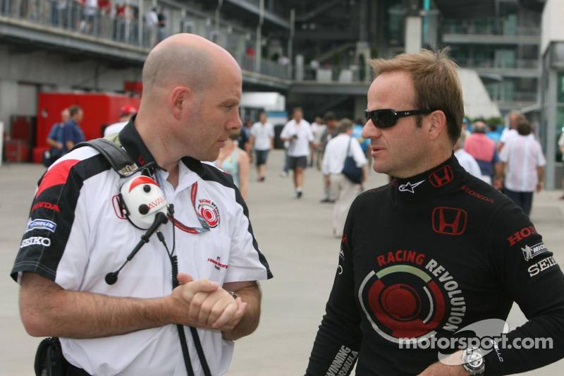 Jock Clear avec Rubens Barrichello