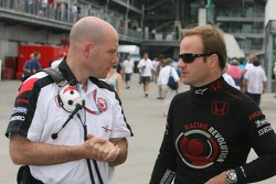 Jock Clear with Rubens Barrichello