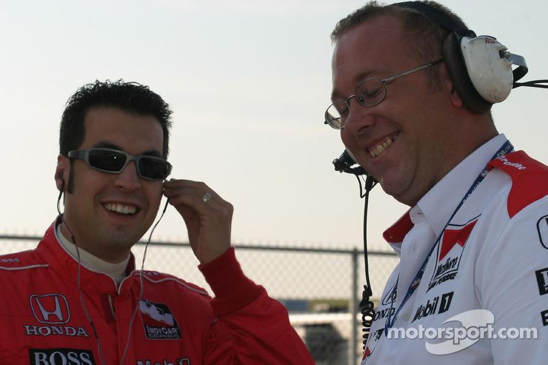 Sam Hornish Jr. et Tom German
