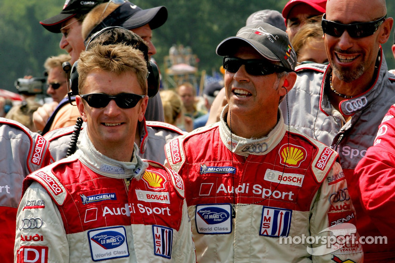 Cérémonie de retraite de l'Audi R8 : Allan McNish et Rinaldo Capello