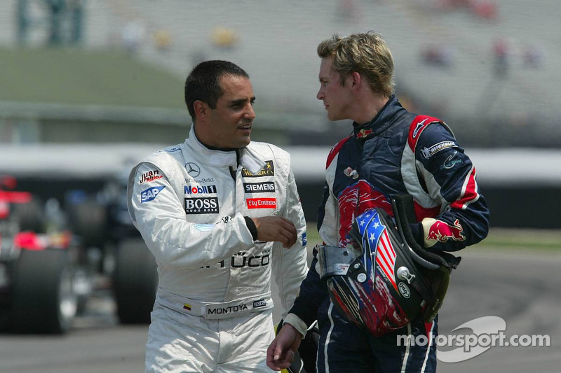 Juan Pablo Montoya et Scott Speed
