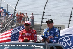 Reed Sorenson and Kurt Busch