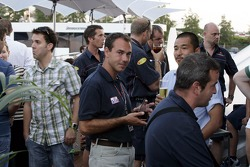 Red Bull chilled Thursday: Red Bull Racing crew members and guests