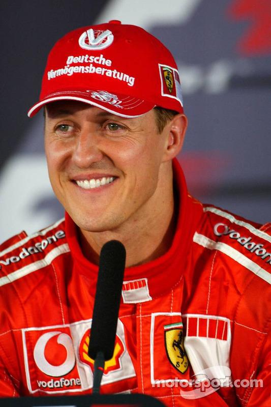 Conférence de presse : Le poleman Michael Schumacher