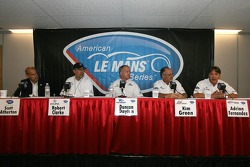 Acura press conference: Scott Atherton, Robert Clarke, Duncan Dayton, Kim Green and Adrian Fernandez