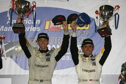 LMGT1 podium: class winners Oliver Gavin and Olivier Beretta