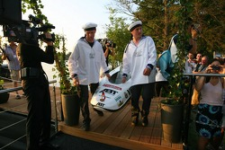 Présentation des bateaux pour la course à Zandvoort: bateau de Heinz-Harald Frentzen