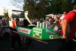 Présentation des bateaux pour la course à Zandvoort: bateau de Pierre Kaffer
