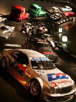 DaimlerChrysler Mercedes media warmup event: racing cars in the Mercedes-Benz museum in Stuttgart