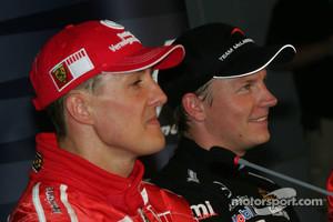 Schumacher and Raikkonen