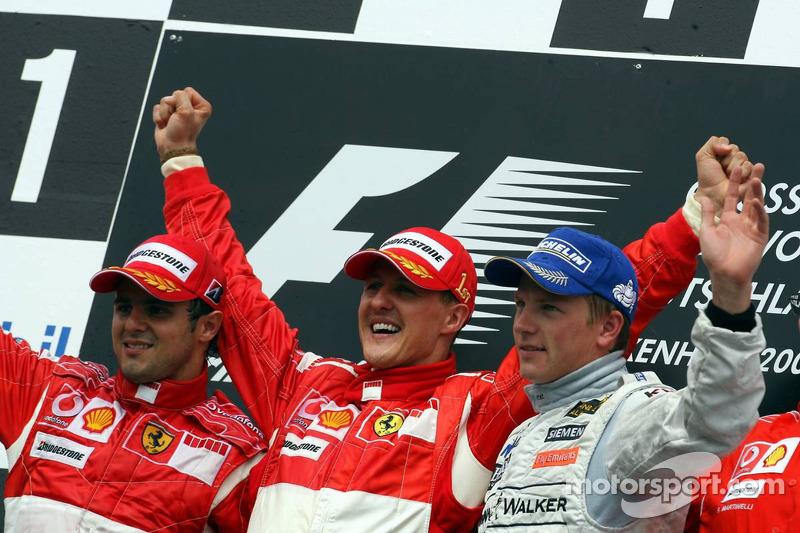 2006: 1. Michael Schumacher, 2. Felipe Massa, 3. Kimi Räikkönen