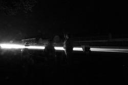 Night lights on the Hunaudières straight