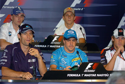 Conferencia de prensa FIA: Mark Webber, Fernando Alonso, Jenson Button, Robert Kubica y Christian Kl
