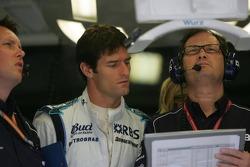 Sam Michael, Mark Webber y Frank Dernie