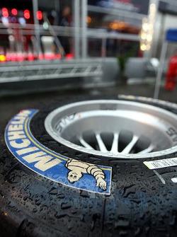 A wet tyre