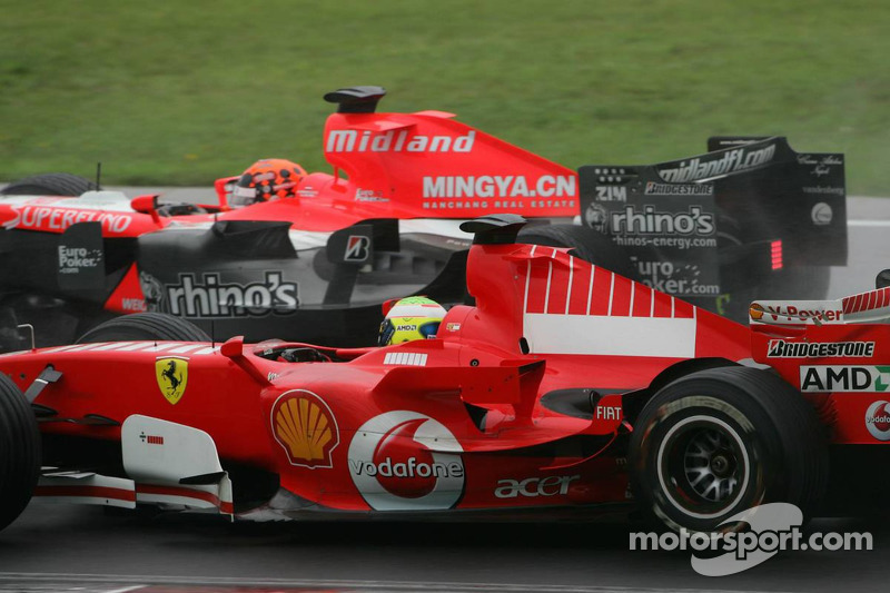 Christijan Albers y Felipe Massa