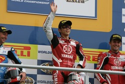 Noriyuki Haga on the podium