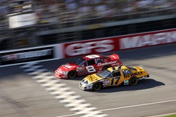 Dale Earnhardt Jr. leads Matt Kenseth