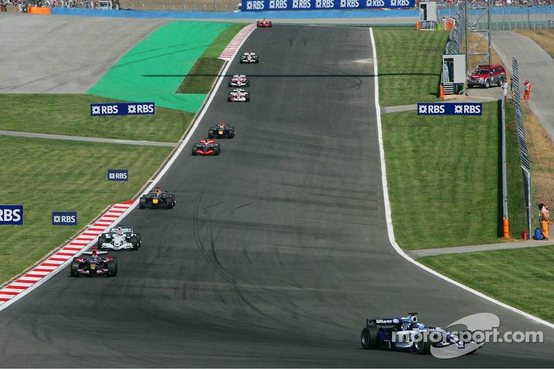 Nico Rosberg, Vitantonio Liuzzi and Robert Kubica