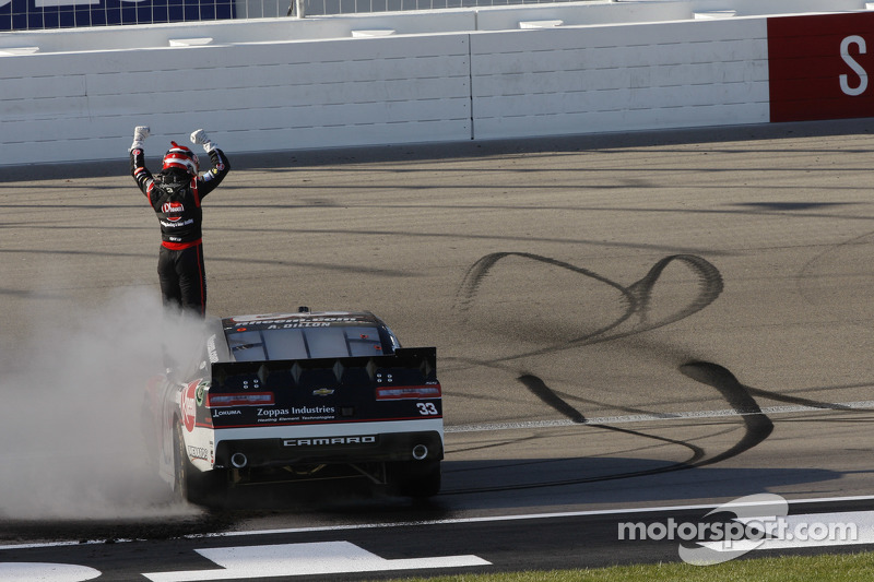 Race winner Austin Dillon, Richard Childress Racing Chevrolet celebrates