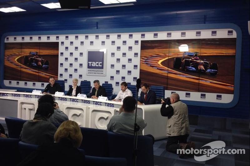 Pressekonferenz in Moskau, Vorstellung von Motorsport.com - Russland