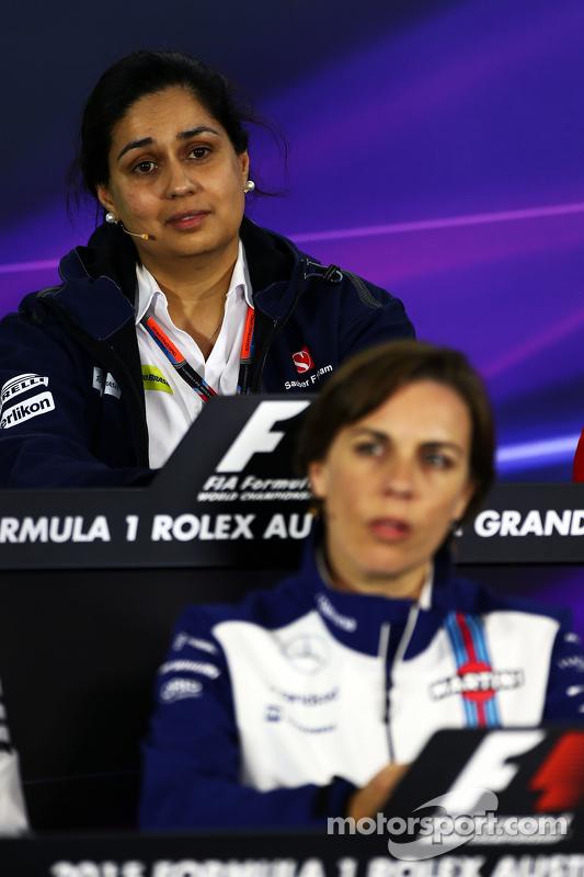Моніша Калтенборн, Керівник команди Sauber та Claire Williams, Заступник керівника команди Williams