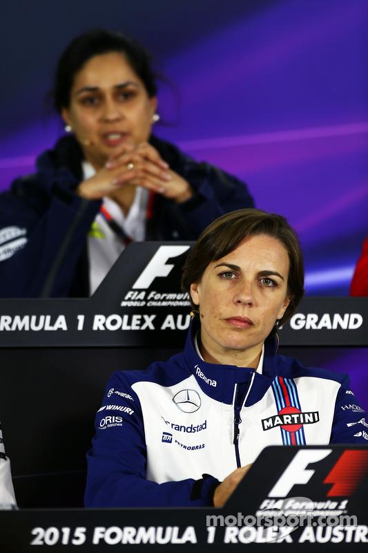 Claire Williams, Teamchef-Stellvertreterin, Williams, und Monisha Kaltenborn, Teamchefin Sauber, in