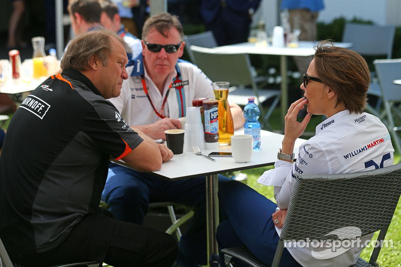Robert Fernley, Sahara Force India F1 Team Deputy Team Principal, bersama Claire Williams, Williams