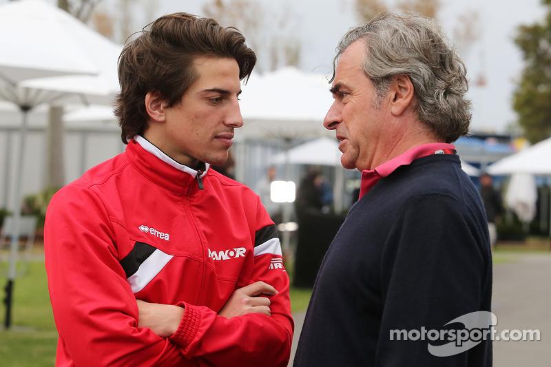 Roberto Merhi, Manor Marussia F1 Team with Carlos Sainz (ESP)
