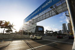 Una vista del circuito urbano de Miami
