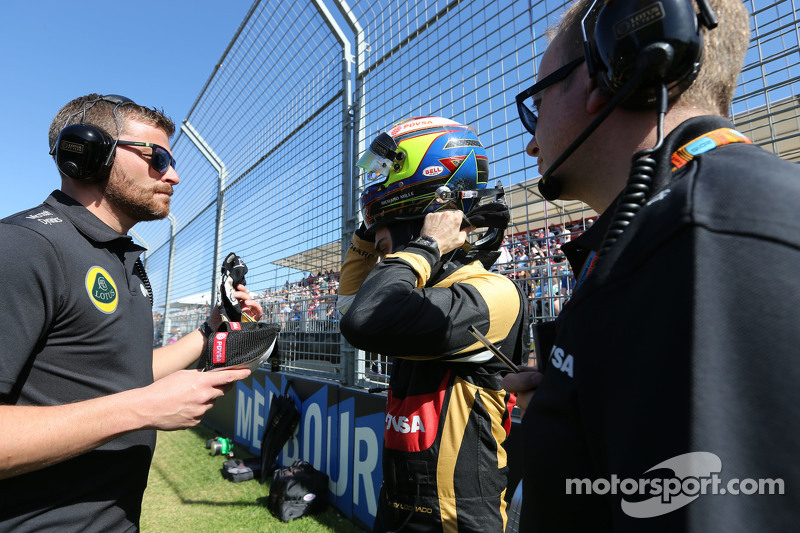 Pastor Maldonado, Lotus F1 Team, und Mark Slade, Lotus F1 Team, Renningenieur